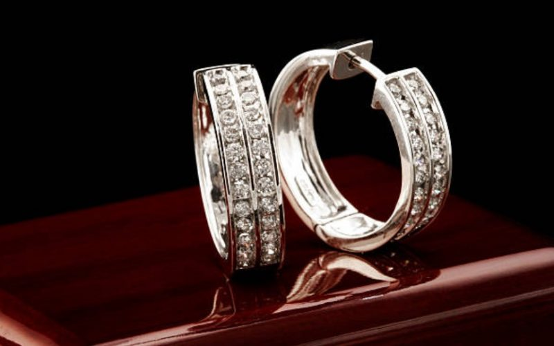 melee diamond rings earrings